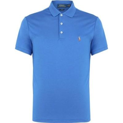 ラルフ ローレン POLO RALPH LAUREN メンズ ポロシャツ トップス custom slim soft-touch polo shirt Blue