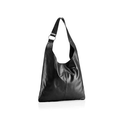 Hill & How Womens Sling Shoulder Bag Shoulder Bag Black (Black Leather), 10x36x32 cm (W x H x L) 並行輸入品