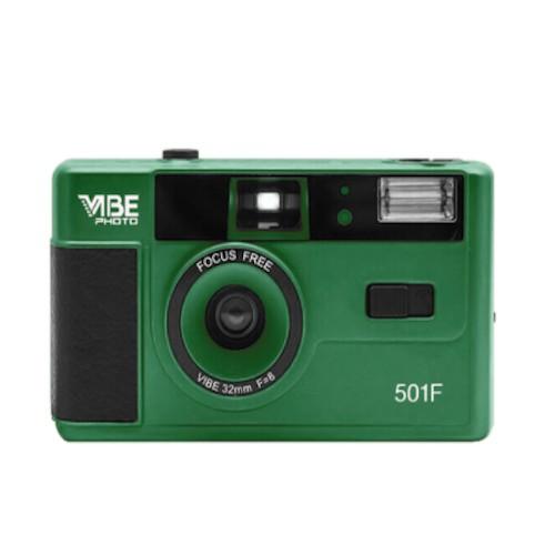 VIBE Photo 德國 501F 復古 傻瓜 菲林 底片相機 135 底片機 可換底片 綠色 黑色 銀色 可供選擇