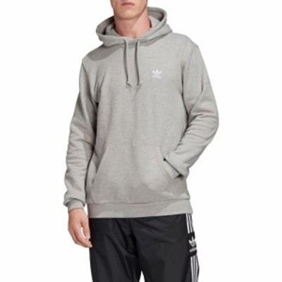 アディダス ADIDAS ORIGINALS メンズ パーカー トップス Essential Pullover Hoodie Medium Grey Heather