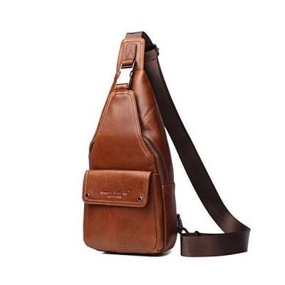ボディバッグ ワンショルダーバッグ 牛本革 iPad mini収納可能 防水 コンパクト 防水 チェスト メンズバッグ 肩掛け 斜めがけ 鞄 アウトド