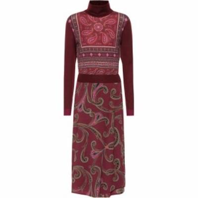 エトロ Etro レディース ワンピース ミドル丈 ワンピース・ドレス Paisley wool-blend midi dress