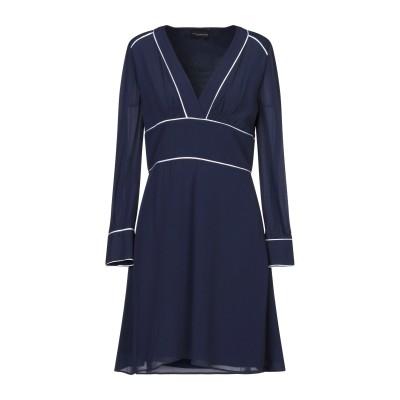 アトス ロンバルディーニ ATOS LOMBARDINI ミニワンピース&ドレス ダークブルー 40 レーヨン 100% ミニワンピース&ドレス