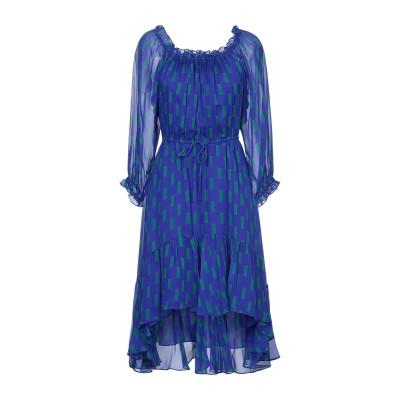 ダイアンフォンファステンバーグ DIANE VON FURSTENBERG 7分丈ワンピース・ドレス ブルー 4 シルク 100% 7分丈ワンピース