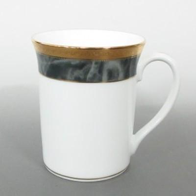 ノリタケ Noritake マグカップ レディース 新品同様 - 白×カーキ×ゴールド 陶器【中古】20210215