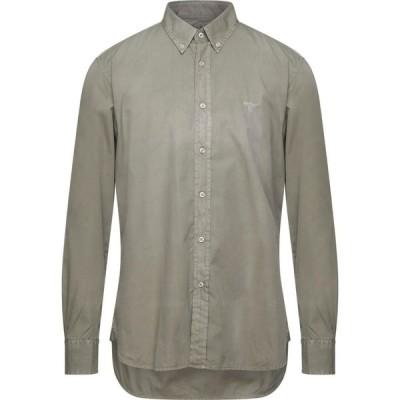 バブアー BARBOUR メンズ シャツ トップス solid color shirt Military green