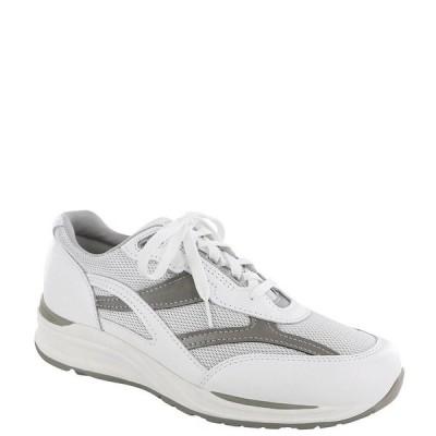 エスエーエス メンズ スニーカー シューズ Men's Journey Mesh Lace Up Sneakers White/Gray