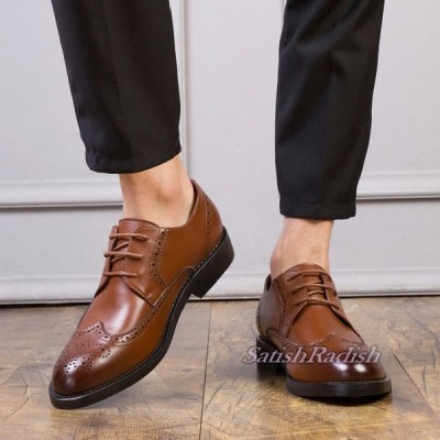 ビジネスシューズ メンズシューズ ブローグ ウイングチップ スリッポン フェイクレザー フォーマル 無地 紳士靴 ドライビング カジュアル 合成皮革