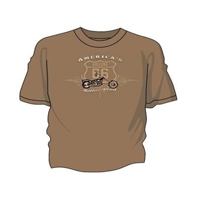 RT 66 (ルート 66) Tシャツ チョッパー ブラウンサバンナ 66-BC-SF9028-BS