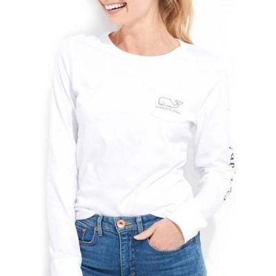 ヴァインヤードヴァインズ レディース Tシャツ トップス Women's Long Sleeve Vintage Whale Graphic Pocket T-Shirt