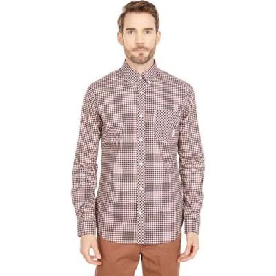 ベンシャーマン Ben Sherman メンズ シャツ トップス Long Sleeve Gingham Shirt Port Royal