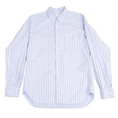 コムデギャルソン シャツCOMME des GARCONS SHIRT ダブルボタンストライプボタンダウンシャツ 水色M 【メンズ】