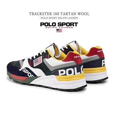 チェック柄 スニーカー POLO SPORT RALPH LAUREN メンズ タータンチェック Trackster 100 ポロ スポーツ ラルフローレン Favolic