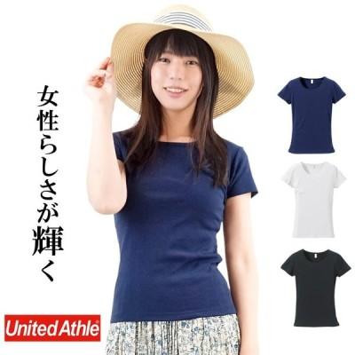 Tシャツ 半袖 レディース 無地 CVCフライスTシャツ UnitedAthle ユナイテットアスレ ガールズ rucca 6.2オンス 5490-04