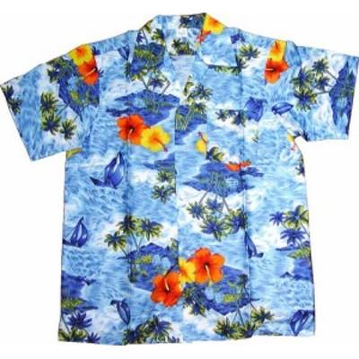 【送料無料】琉球アロハシャツ子ども用1~2才 ハイビスカス  abj203