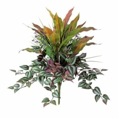 【フェイクグリーン】 レッドエッジMIXブッシュ 50cm 【観葉植物 造花 人工観葉植物 光触媒 CT触媒 インテリア】