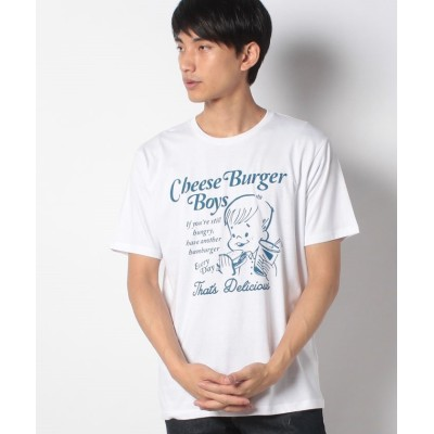 (WEGO/ウィゴー)WEGO/レトログラフィックTシャツ/ユニセックス ホワイト