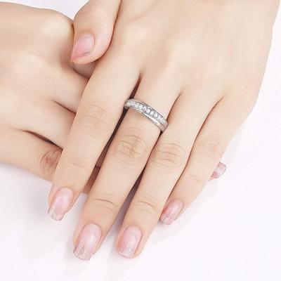 Wuziwen 5mm Wedding Band Eternity Ring for Women Engagement Bridal Ste