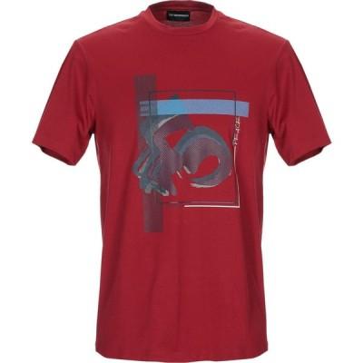 アルマーニ EMPORIO ARMANI メンズ Tシャツ トップス t-shirt Maroon