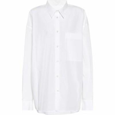 アンドゥムルメステール Ann Demeulemeester レディース ブラウス・シャツ トップス Oversized Cotton Poplin Shirt White