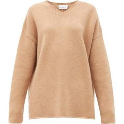 レイ Raey レディース ニット・セーター トップス Dip-hem knitted cashmere sweater Camel