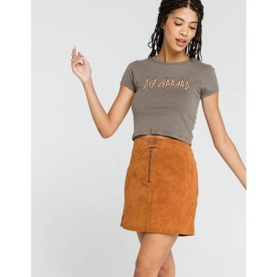 ブランクニューヨーク BLANK NYC レディース ミニスカート スカート Moon Child Suede Mini Skirt CHESTNUT