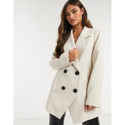 エイソス レディース ジャケット・ブルゾン アウター ASOS DESIGN asymmetric bonded crepe jacket in mink