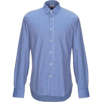 モスカ MOSCA メンズ シャツ トップス Striped Shirt Blue