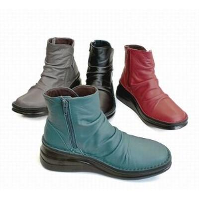 その他ブーツ ブーツ レディースシューズ レディースファッション 靴 本革 サイドジップ ショートブーツ 22.0 24.5