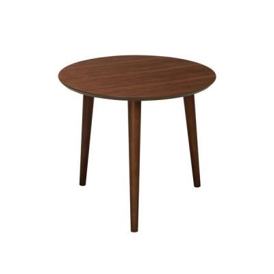 木製ラウンドテーブル サイドテーブル 木目 木製 丸型 ブラウン