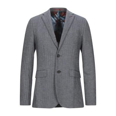 テッドベーカー TED BAKER テーラードジャケット ブルーグレー 1 コットン 47% / リネン 29% / レーヨン 24% テーラードジ
