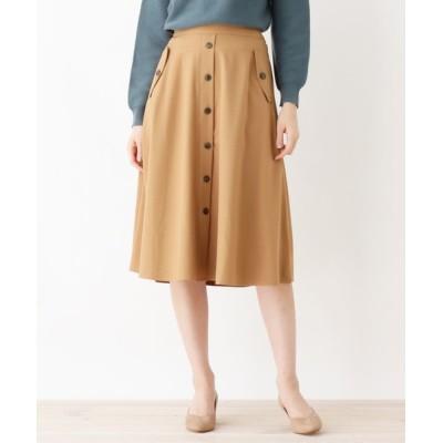 grove / フェイクボタンフレアスカート WOMEN スカート > スカート