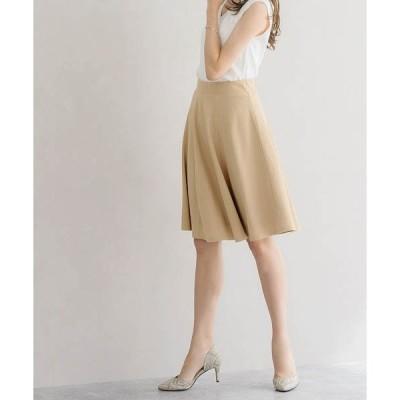 スカート ふんわり360°美人ミドル丈フレアスカート