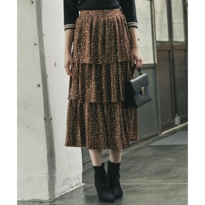 スカート 【WEB限定】ドットティアードプリーツスカート854164