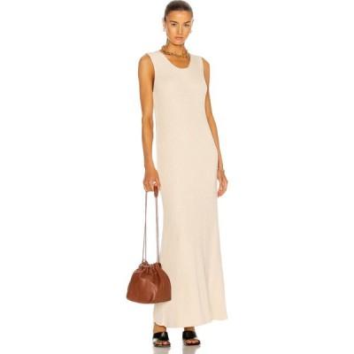 ジル サンダー Jil Sander レディース ワンピース ノースリーブ ワンピース・ドレス Sleeveless Ribbed Dress Antique White