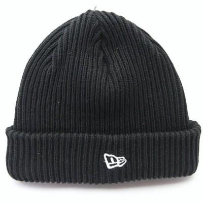 ニューエラ NEWERA 帽子 ニットキャップ カフニット リブ ブラック