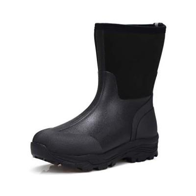 ミツウマ メンズ 紳士 防寒長靴 シーザーウルフ No.2037MU (ブラック, measurement_26_point_5_centi