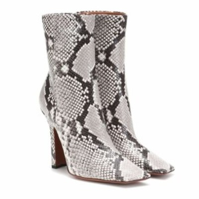 ヴェトモン Vetements レディース ブーツ シューズ・靴 Snake-effect leather ankle boots Snake White