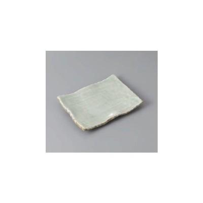 和食器 焼物皿 白雲6.0四ツ足皿 長角皿 角皿 陶器 美濃焼