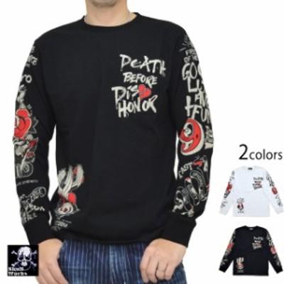 タトゥー長袖Tシャツ スカルワークス 111950 SKULL WORKS ロングTシャツ ロンT バイカー