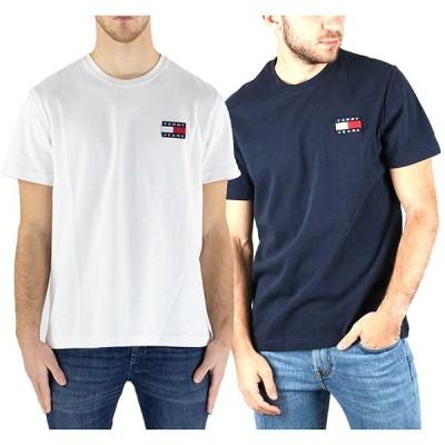 トミーヒルフィガー Tシャツ 半袖 ロゴ Tommy Hilfiger メンズ クルーネック オーガニック コットン 丸首 アメカジ おしゃれ トップス