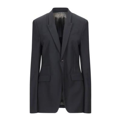リック オウエンス RICK OWENS テーラードジャケット ブラック 48 ポリエステル 53% / バージンウール 44% / ポリウレタン
