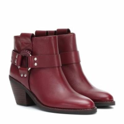 クロエ See By Chloe レディース ブーツ ショートブーツ シューズ・靴 Eddy leather ankle boots Nisida