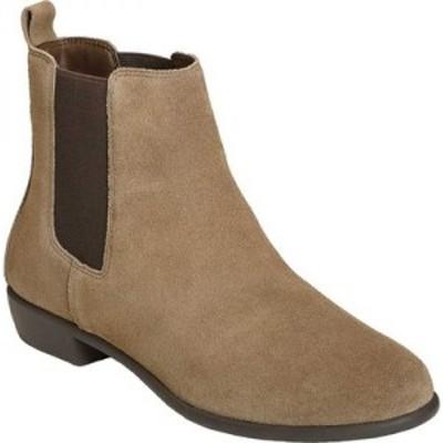 エアロソールズ Aerosoles レディース ブーツ チェルシーブーツ シューズ・靴 Step Dance Chelsea Boot Taupe Suede