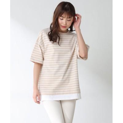 (Honeys/ハニーズ)裾レイヤード風トップス/レディース ベージュ