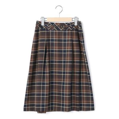 KEITH Lサイズ/キースエルサイズ ライトビエラチェック スカート ブラウン 46
