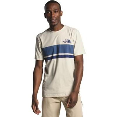 ノースフェイス メンズ Tシャツ トップス Horizon Lines T-Shirt Vintage White