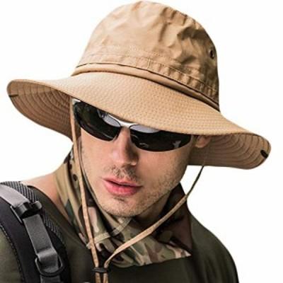 サファリハット メンズ 【UPF50* UVカット率99% 日焼け防止】ハット 帽子 2WAY 大きいサイズ つば広 軽薄 通気性抜群 日除け 紫外線対策