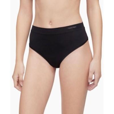カルバンクライン レディース パンツ アンダーウェア Women's CK One Size High-Waist Thong Black