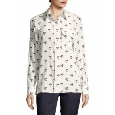 ビクトリアベッカム レディース トップス ニット  Floral Button-Front Shirt